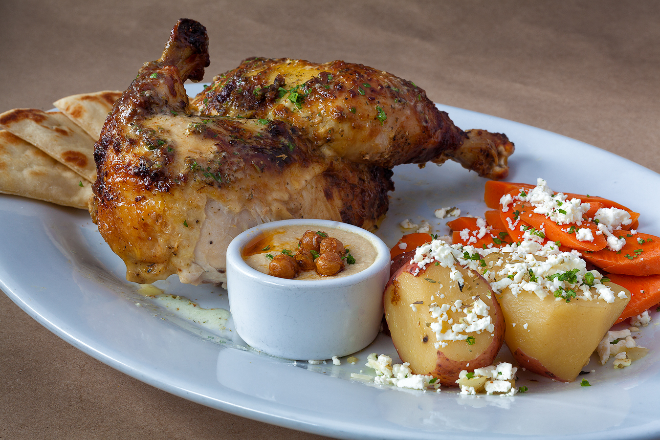Our famous roasted chicken